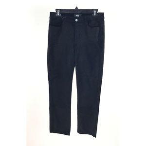 Paige Black Jacqueline Straight Crop Velvet Jeans